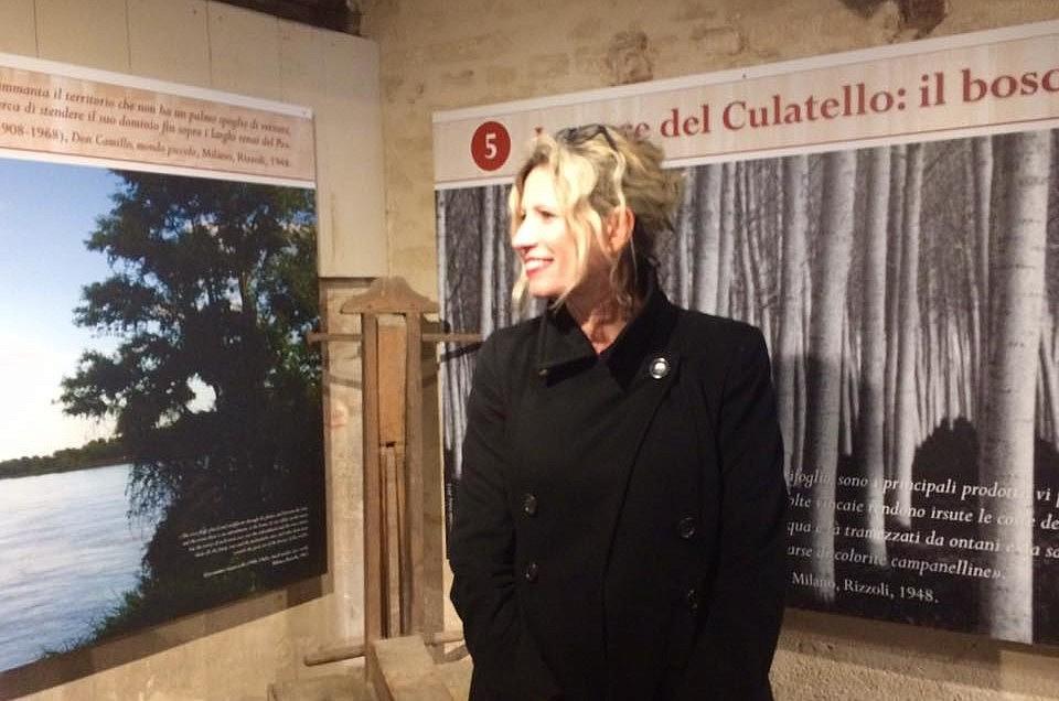 Immagini di Linda Vukaj nell'allestimento permanente del nuovo Museo del Culatello e del Masalén